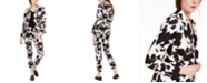 Calvin Klein X-Fit Cow-Print One-Button Blazer & Pants