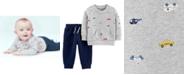 Carter's Baby Boys 2-Pc. Vehicle Sweatshirt & Jogger Pants Set