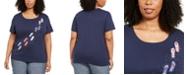 Karen Scott Plus Size Sandal-Print T-Shirt, Created for Macy's