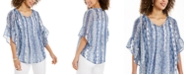 Style & Co Paisley-Print Pintuck Blouse, Created for Macy's