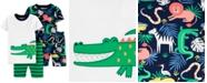 Carter's Toddler Boys 4-Pc. Jungle-Print Cotton Pajamas Set