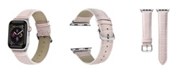 Posh Tech Men's and Women's Apple Pink Leather Replacement Band 44mm