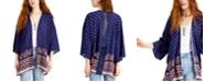 Ultra Flirt Juniors' Lace-Back Kimono