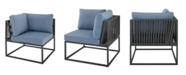 Walker Edison Outdoor Modern Modular Patio Corner Chair