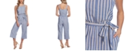 CeCe Striped Wide-Leg Jumpsuit