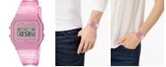 Casio Unisex Digital Pink Jelly Strap Watch 35.2mm