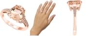 LALI Jewels Morganite (3-1/6 ct. t.w.) & Diamond (1/8 ct. t.w.) Ring in 14k Rose Gold