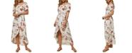 O'Neill Juniors' Conners Off-The-Shoulder Midi Dress