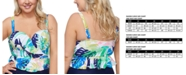 Raisins Curve Trendy Plus Size Juniors' Palm Springs Maldives Bikini Top