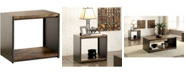 Furniture of America Jasmina Matte Black End Table