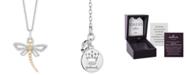 "Hallmark Diamonds Dragonfly Joy Pendant (1/6 ct. t.w.) in Sterling Silver & 14k Gold, 16"" + 2"" extender"