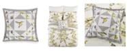 Jessica Simpson Vera Bradley Hummingbird Blooms Star Embroidered Decorative Pillow