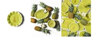 Coton Colors Pineapple Ruffle Plate