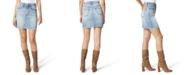 Joe's Jeans High-Waist Frayed-Hem Denim Skirt
