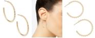 """Kendra Scott Medium Pavé C-Hoop Earrings, 1.7"""""""
