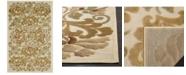 "Martha Stewart Collection Floating Dahlia MSR4441A Creme 2'7"" x 4' Area Rug"
