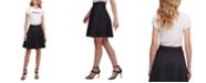 DKNY Circle Logo A-Line Skirt