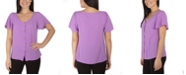 NY Collection Women's Plus Size Short Sleeve Top