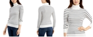 French Connection Striped Turtleneck Sweater