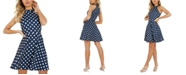 Quiz Polka-Dot Fit & Flare Halter Dress