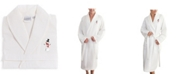 Linum Home Snowman Waffle Weave Embroidered Bathrobe