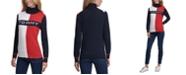 Tommy Hilfiger Logo Colorblocked Turtleneck Sweater