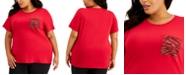 Calvin Klein Plus Size Sequin-Pocket T-Shirt