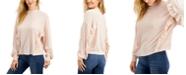Freshman Juniors' Ruffled Hacci-Knit Top