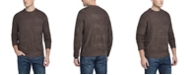 Weatherproof Vintage Men's Soft Touch Stripe Crew Neck Sweater