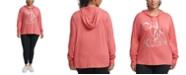 Calvin Klein Plus Size Offset Stripe Remix Logo Hoodie