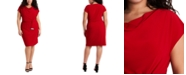 MSK Plus Size Cowlneck Sheath Dress