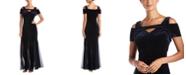 Nightway Velvet Keyhole Gown