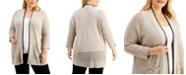 Kasper Plus Size Open-Front Cardigan