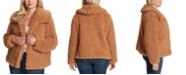 Jessica Simpson Trendy Plus Size Sasha Faux-Fur Jacket