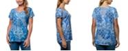Gloria Vanderbilt Women's Opal Exotic Patchwork T-shirt