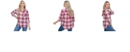 Lids UG Apparel Oklahoma Sooners Women's Flannel Boyfriend Plaid Button Up Shirt