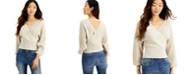 INC International Concepts INC Metallic Surplice Sweater, Created for Macy's