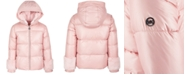 Michael Kors Little Girls Faux-Fur-Trim Puffer Coat