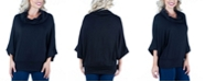 24seven Comfort Apparel Women's Oversized Cowl Neck Tunic Top