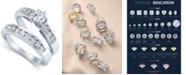 Macy's Diamond Engagement Ring Bridal Set in 14k White Gold (9/10 ct. t.w.)