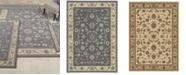 KM Home Area Rug Set, Florence Collection 4 Piece Set Isfahan