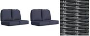 Furniture Monterey & Sandy Cove Outdoor Loveseat Replacement Sunbrella® Cushion, Quick Ship