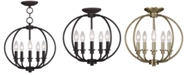 Livex Milania 5- Light Metal Pendant