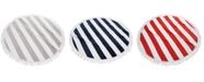 Cassadecor Round Stripe Fringe Cotton Beach Towel