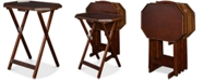 Furniture James Tray Table 5-Pc. Set, Quick Ship