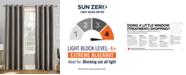 Sun Zero Reign Theater Grade Extreme Blackout Grommet Curtain Panels