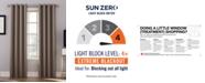 Sun Zero Oslo Grommet Theater Grade 100% Blackout Curtain Panels