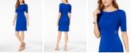 Jessica Howard Petite Ruched Embellished Dress