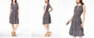 Michael Kors Leopard-Print Keyhole Dress, Regular & Petite