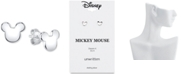 Disney Mickey Mouse Stud Earrings in Sterling Silver for Unwritten